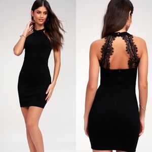 NWT Lulu's Endlessly Alluring Lace Bodycon Dress